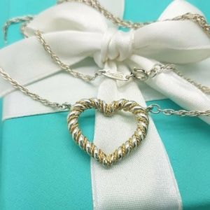 Rare Tiffany & Co 18k Gold & Silver Heart